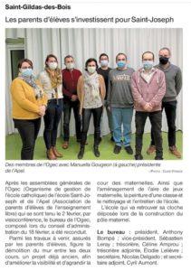 OF 23-02-2021 Renouvellement bureau OGEC - Ecole Saint Joseph - Saint Gildas des Bois 44
